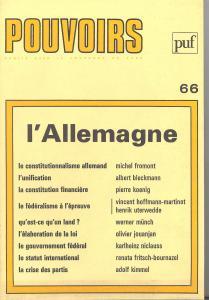 couverture Pouvoirs, n° 66