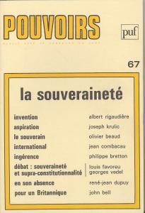 couverture Pouvoirs, n° 67