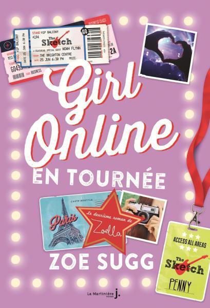Couverture de l'ouvrage Girl Online en tournée