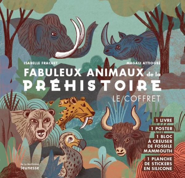 Couverture de l'ouvrage Fabuleux Animaux de la préhistoire, le coffret