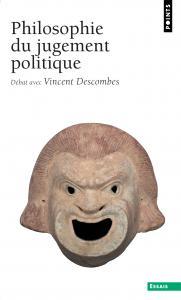 Couverture de l'ouvrage Philosophie du jugement politique