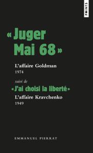 couverture « Juger Mai 68 »: l'affaire Goldman, 197...