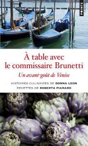 couverture A table avec le commissaire Brunetti